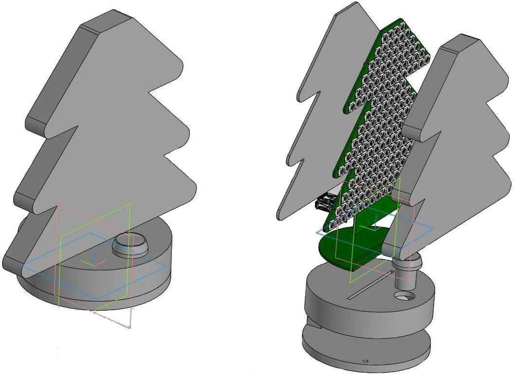 3д модель елочки